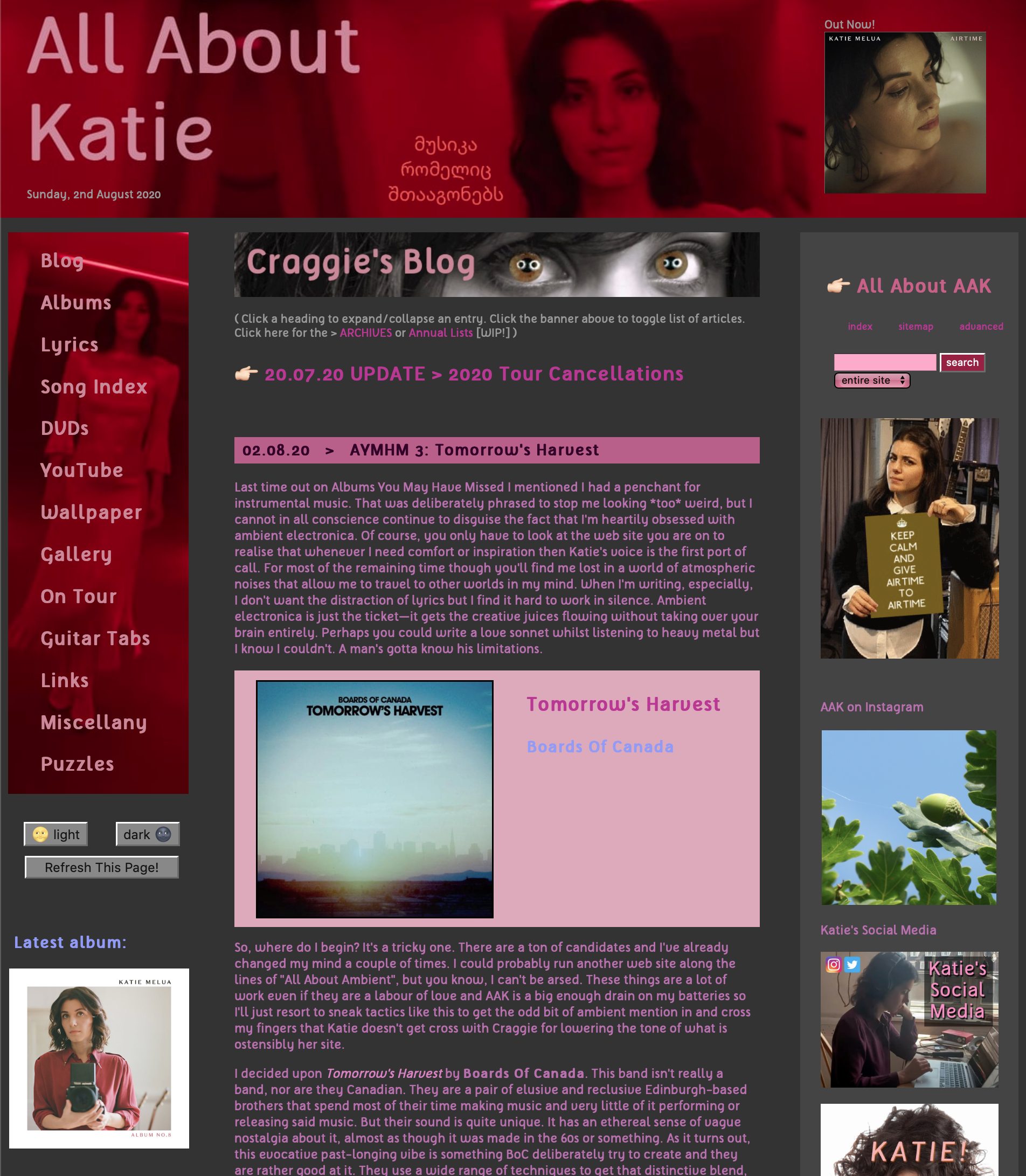all about katie website